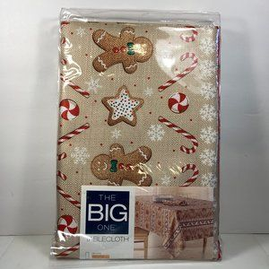 Gingerbread Candy 60x84 Oblong Tablecloth Fabric